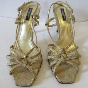 AUTHENTIC DOLCE & GABBANA GOLD STRAPPY IT 38/US 8